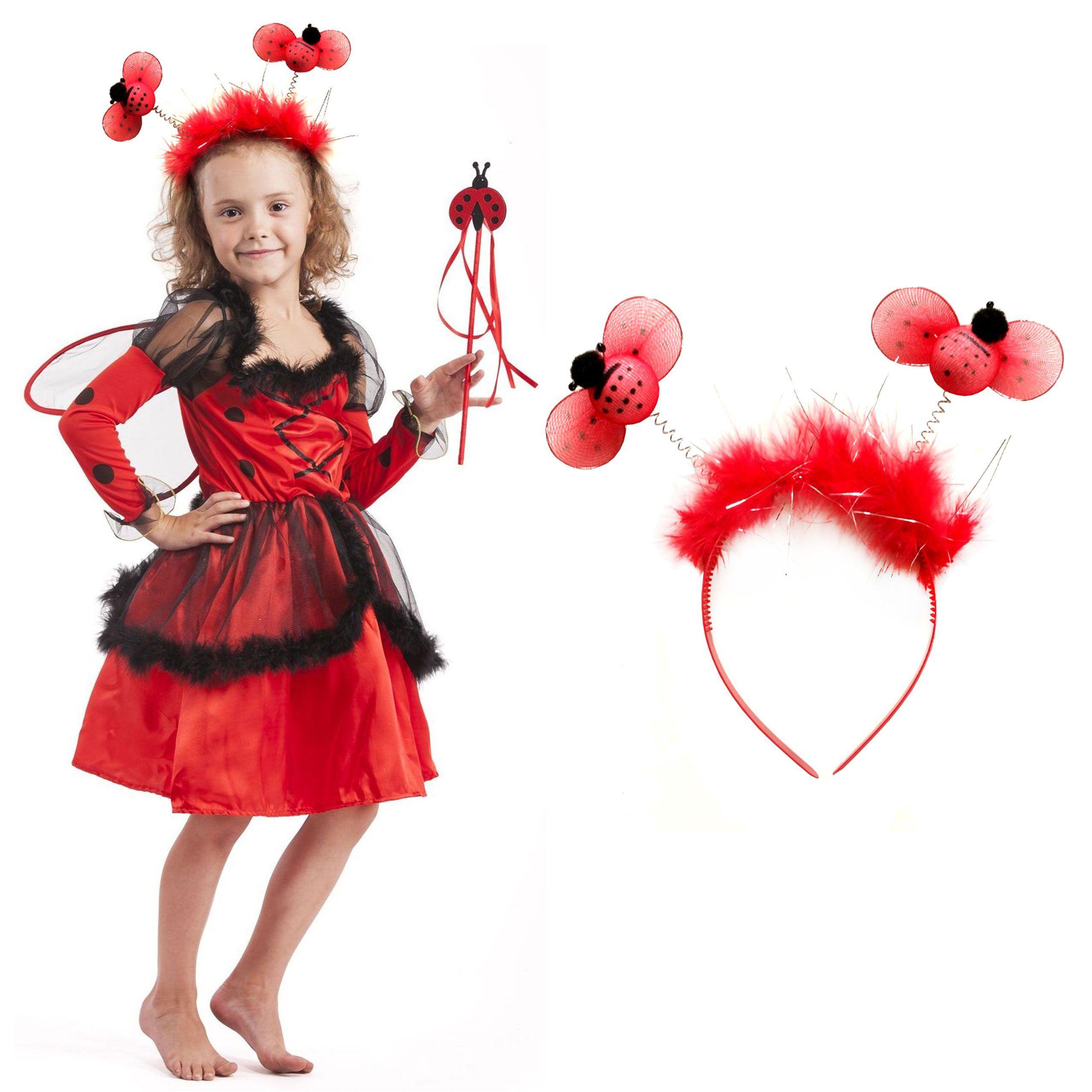 b63bc9a18e824d Strój Biedronka Miraculum Kostium Sukienka Skrzydełka Opaska dla dziecka  110-116cm https://