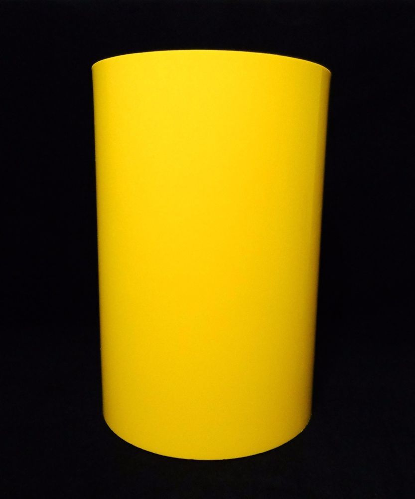 vintage modern kartell yellow polymer trash canwastebasket usa g  - vintage modern kartell yellow polymer trash canwastebasket usa gcolombini(sold)