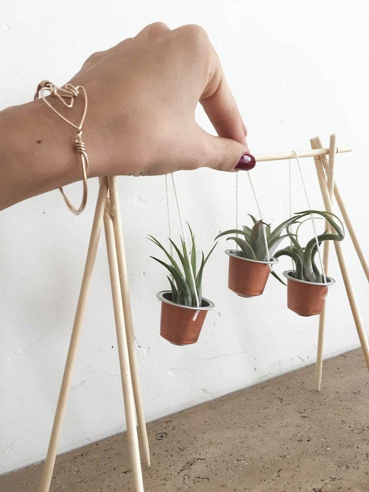 diy nespresso cups to tiny planters nespresso tutorials and green craft. Black Bedroom Furniture Sets. Home Design Ideas