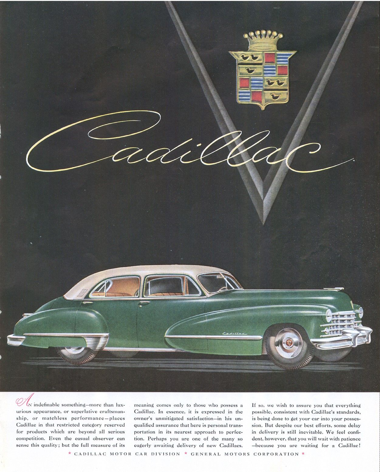 Vintage cadillac ads vintage mid century cadillac ad 1947 fortune the evolution of the cadillac what an amazing transformation from then to now fandeluxe Image collections