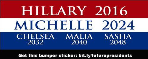 future presidents hillary clinton  michelle obama  chelsea clinton  malia obama