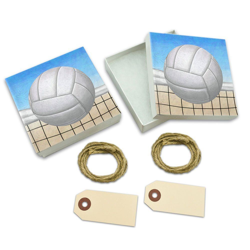 Sporty Volleyball White Gift Boxes Set of 2 >>> Check out this great image  : Wrapping Ideas