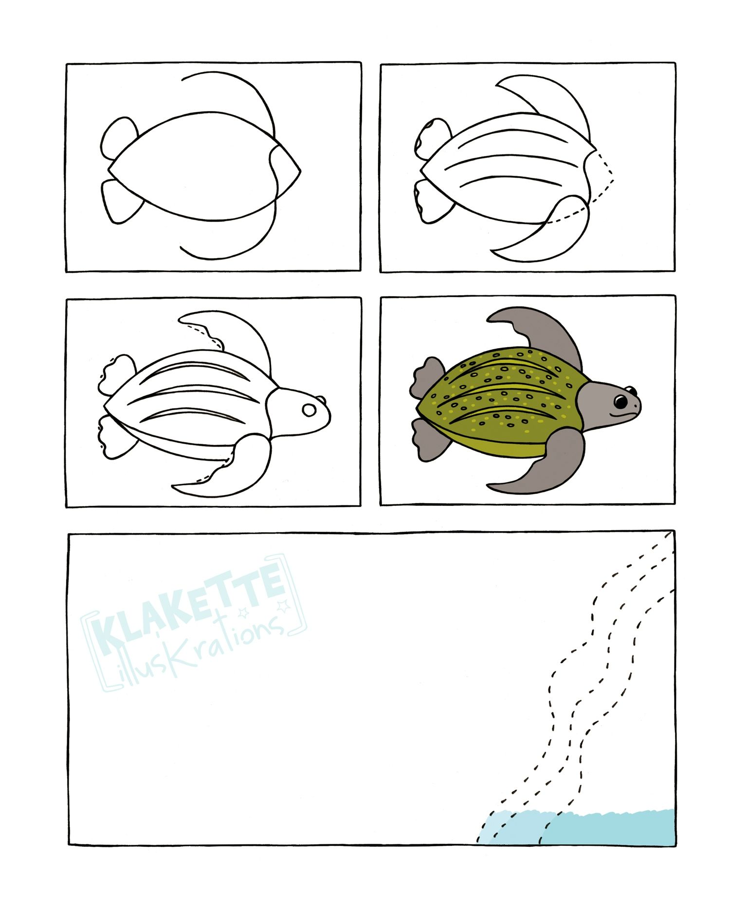 Schildpad Tekenen Met Kleuters Thema Schildpadden