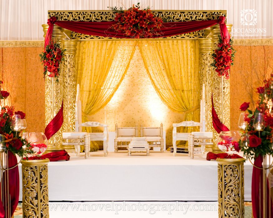 Indian wedding mandaps event decorators occasions by for Asian wedding stage decoration