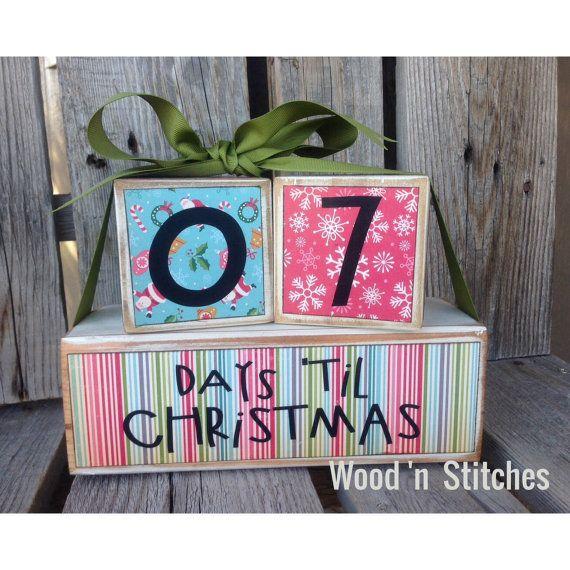 Christmas Countdown READY TO SHIP Days Until Christmas