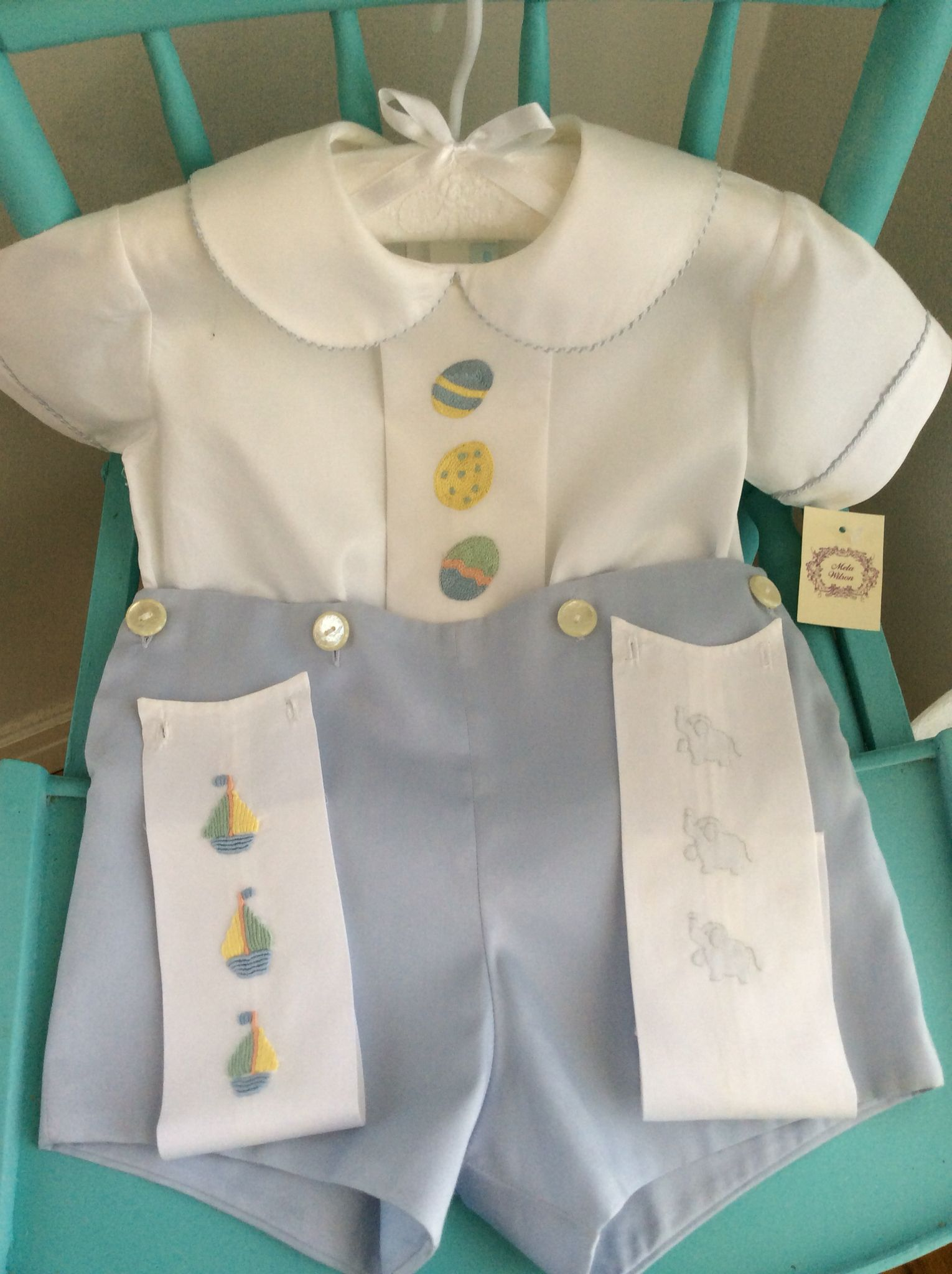 Easter Hand Embroidery Boy Outfit By Mela Wilson Heirloom