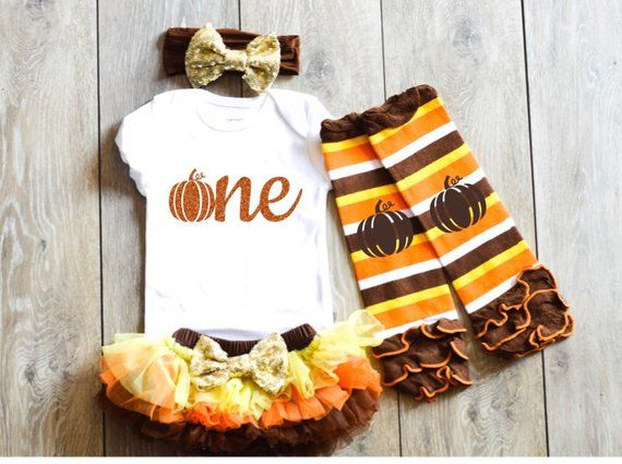 Fall Birthday Girl Outfit Pumpkin First Birthday Outfit Fall Birthday outfit Autumn Halloween Birthd