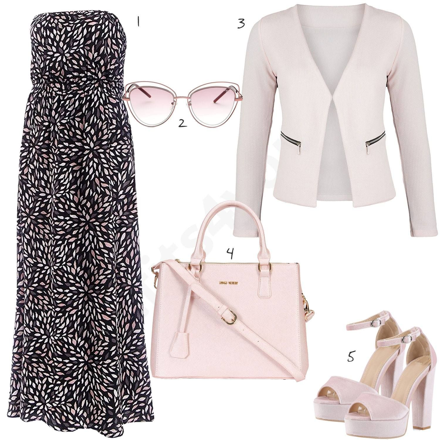 Rosa Weisses Damenoutfit Mit Blazer Und Bluse Outfits4you De Outfits Church Outfits Fashion