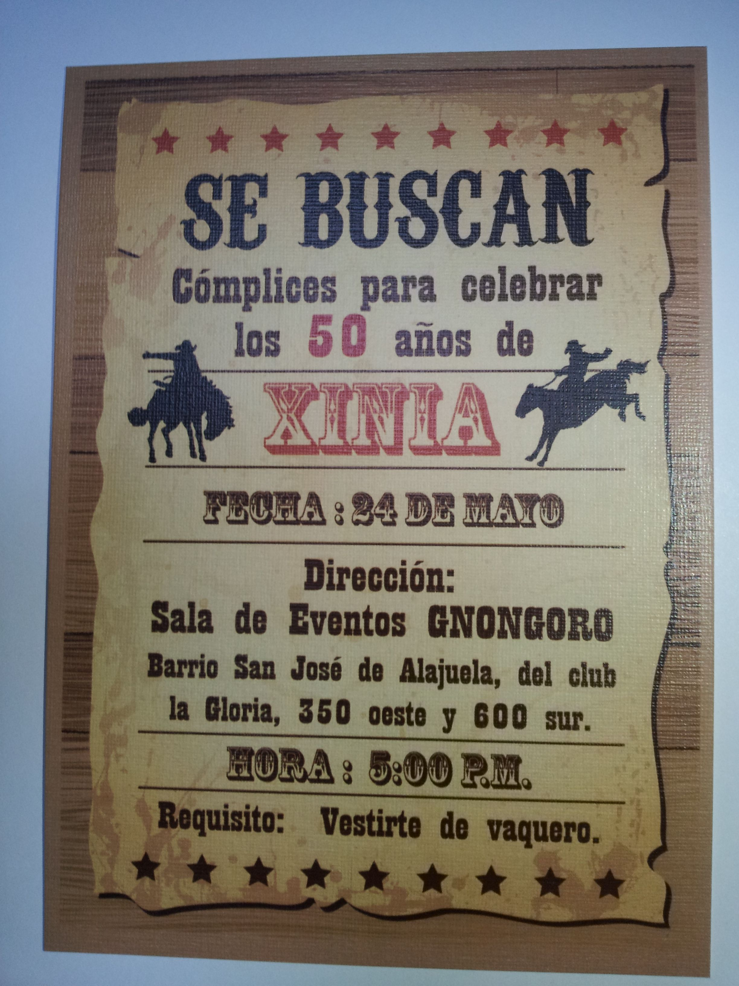 Invitacion cowboy party en 2019 - Ideas para fiestas de 40 cumpleanos ...