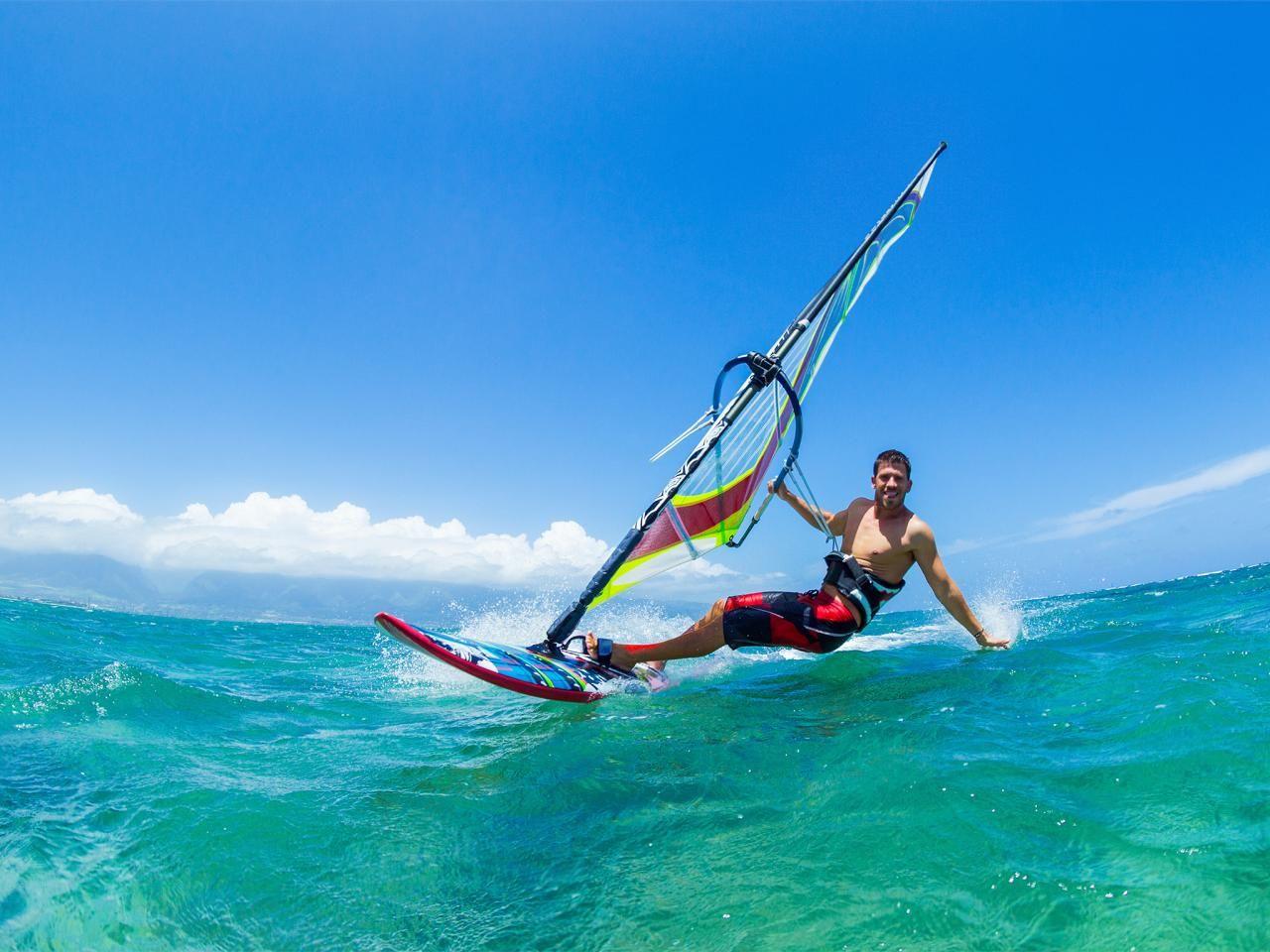 Windsurfing Escape The Cold For Sunny Miami Travelchannel Com Windsurfing Surfing Wind Surfing Photography