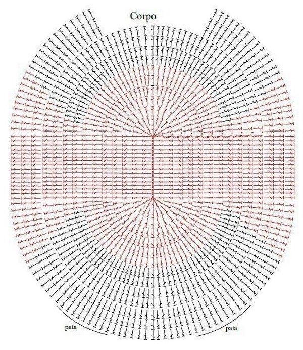 patron de alfombra buho   CROCHET DE BUHOS Y +BUHOS   Pinterest