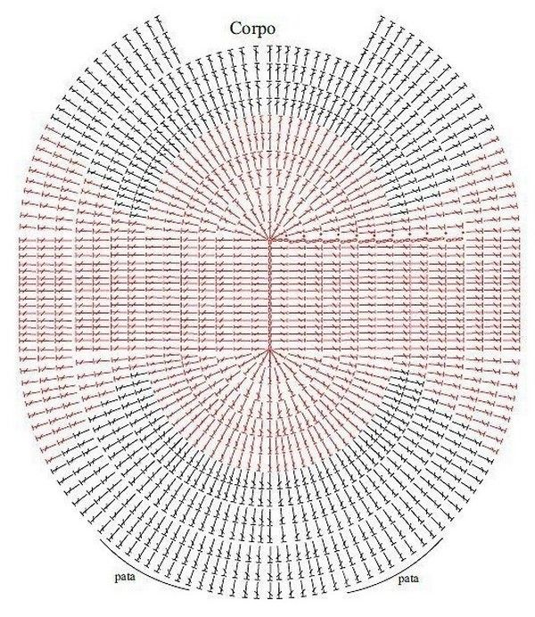 patron de alfombra buho | Patrones De Ganchillo | Pinterest