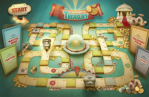 Corporate Treasury - Board game made for Tenaris. | Angeles Morano