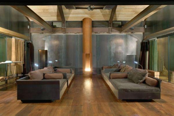 Modernes Haus Design modernes haus design shadowboxx holz fußboden sofa wohnraum home