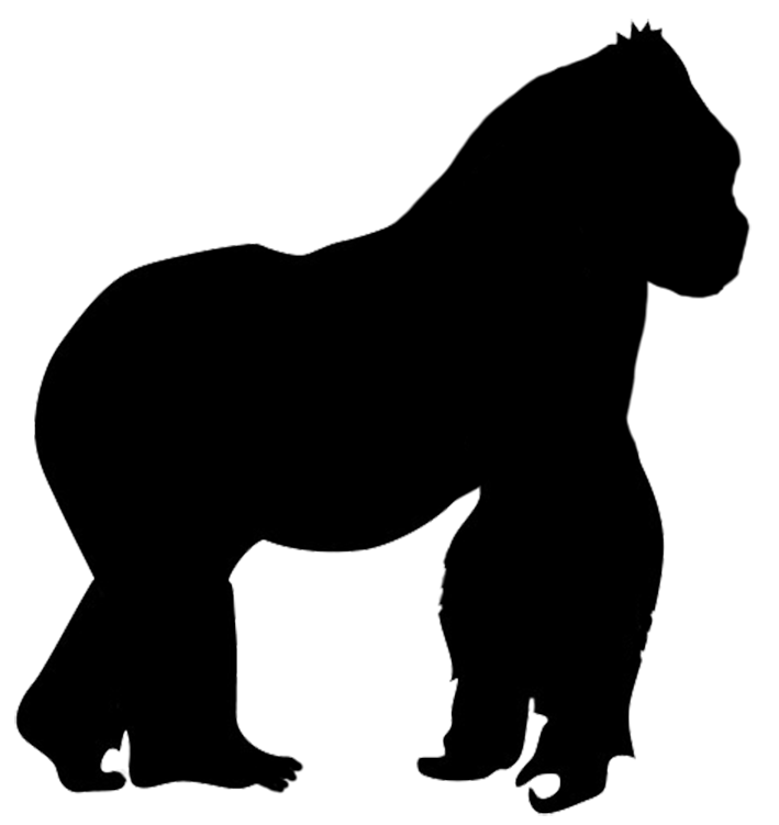 gorilla silhouette pinteres rh pinterest com Gorilla Clip Art Black and White Gorilla Face