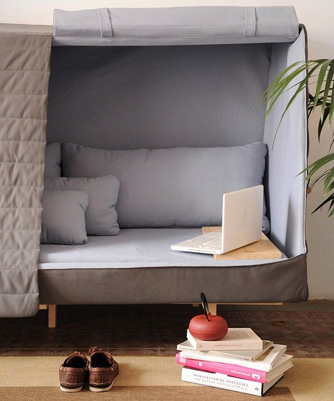 Orwell Cabin Bed A Sofa That Becomes A Fort To Let You Sleep In Complete Privacy Sofa Fort Furniture Design Modern Furniture