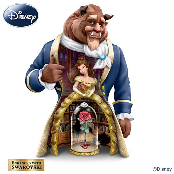 Disney S Beauty And The Beast 3 In 1 Nesting Figurine Set