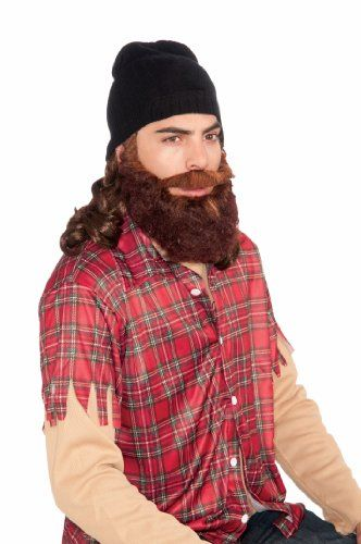 Black Beanie with Wig  Beard Forum Novelties Wigs for Cosplay - halloween costumes with beards ideas