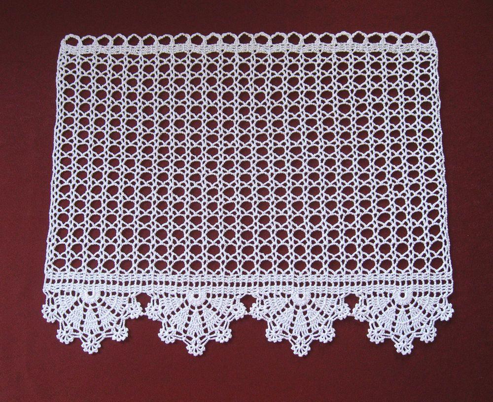 Hakelgardine Handarbeit Gehakelte Gardine Hakelspitze Luvas De Croche Panos De Croche Bico De Croche