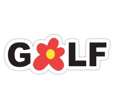 Golf And Le Fleur Sticker By Charlescreator Print Stickers Aesthetic Stickers Bubble Stickers