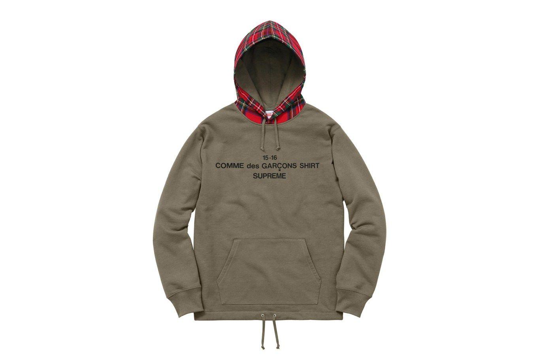 Comme Des Garcons Shirt X Supreme 2015 Fall Winter Collection Supreme Clothing Supreme Hoodie Comme Des Garcons Shirt