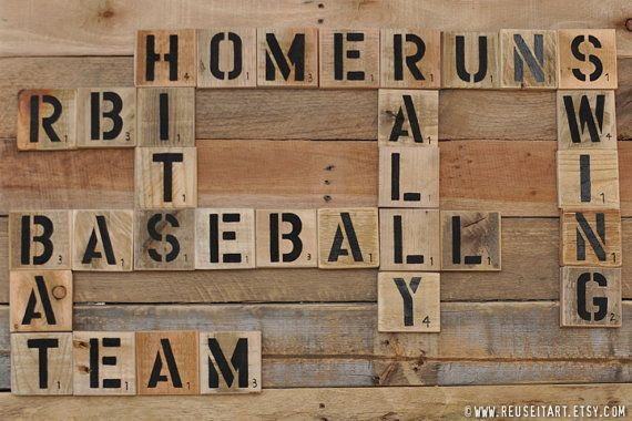 Baseball Enthusiast Pallet Art Word Collage Sports By