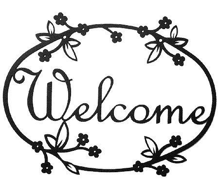 "12"" Iron Outdoor Welcome Sign - Floral Design by Modern Artisans. $24.99. Made in the USA. Very lightweight and easy to install. Measures 12"" x 9"". Powder-coated to allow a lifetime of protection from the elements. A wonderful way to welcome guests while adding a touch of charm to your home!. What a wonderful way to welcome friends and family to your door while adding a touch of nautical charm to the outside of your home!  Measuring 12"" x 9"" and featuring a flurry of..."