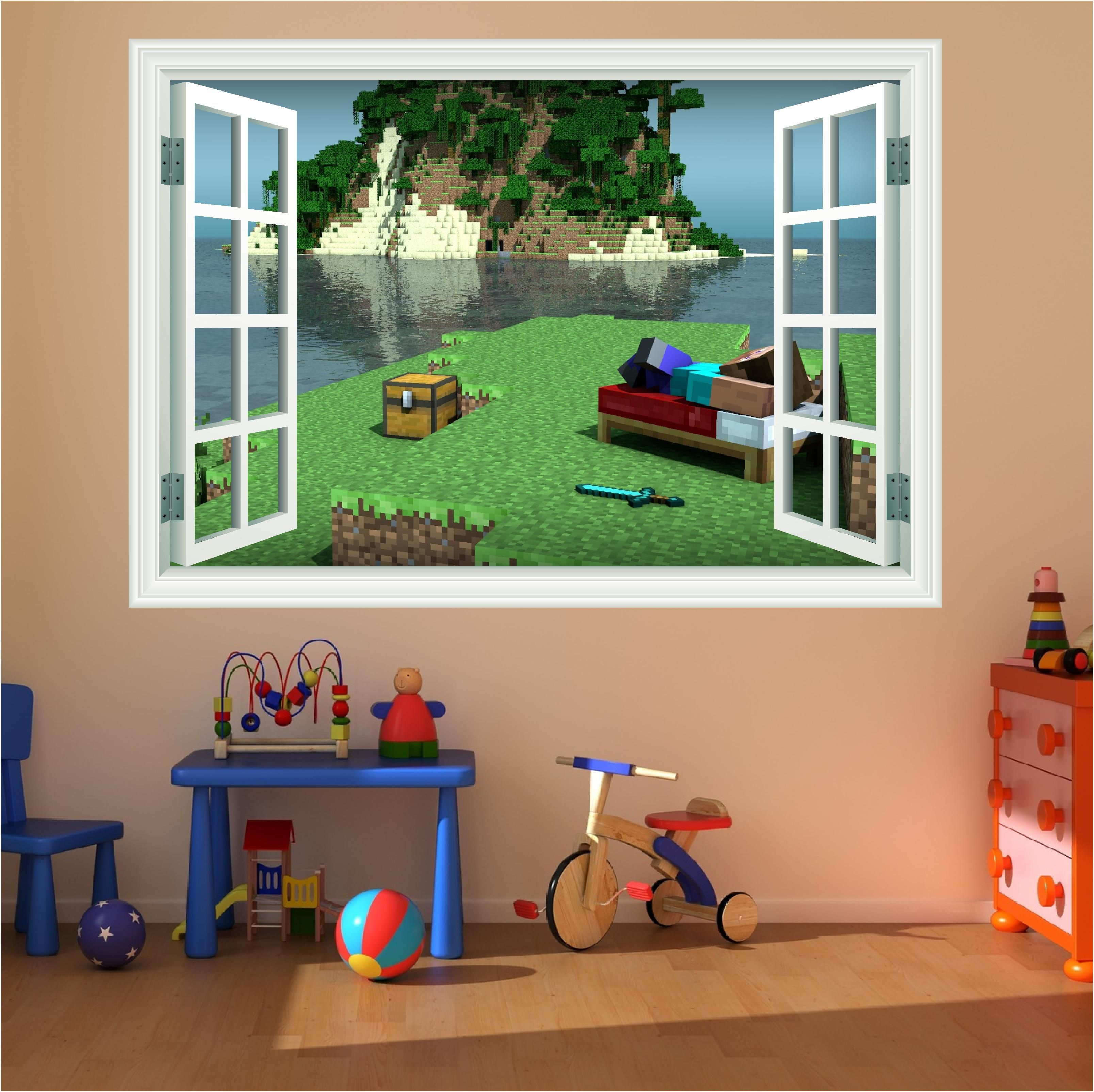 Minecraft wall decals minecraft magic window full colour minecraft wall decals minecraft magic window full colour print wall art sticker amipublicfo Gallery