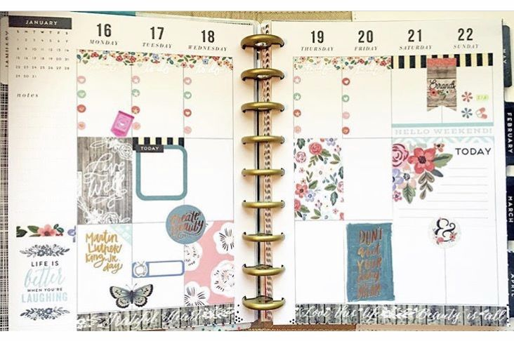 planner pages ideas