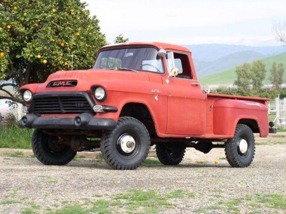 1957 GMC NAPCO 4x4 Pickup Truck Black Plate California Driver For
