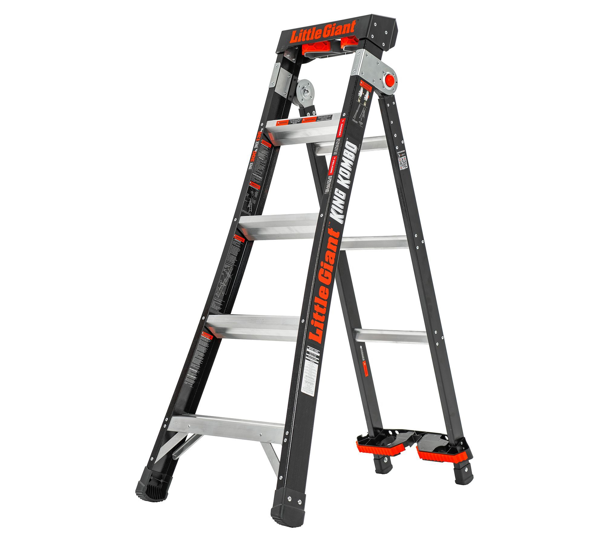 Little Giant King Kombo Multi Position Extendable Ladder Qvc Com Extendable Ladder Little Giants Ladder
