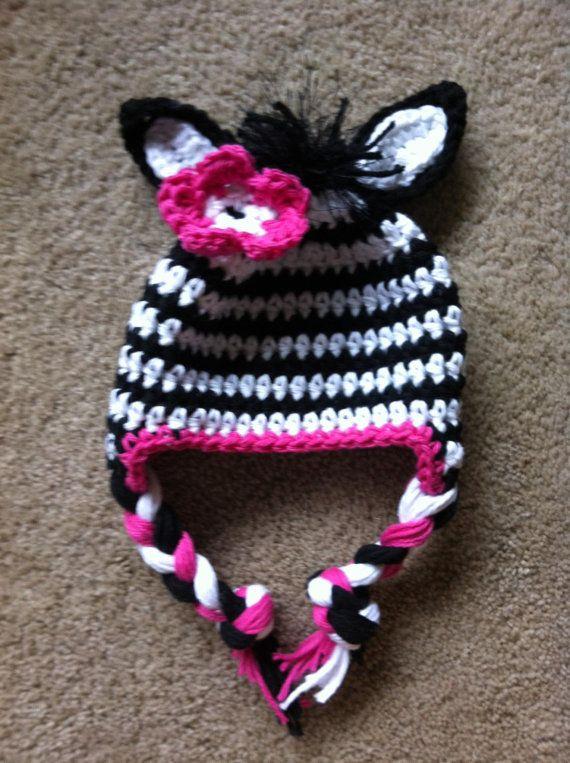 Zebra hat, crochet zebra hat, zebra, baby zebra hat, animal hat ...