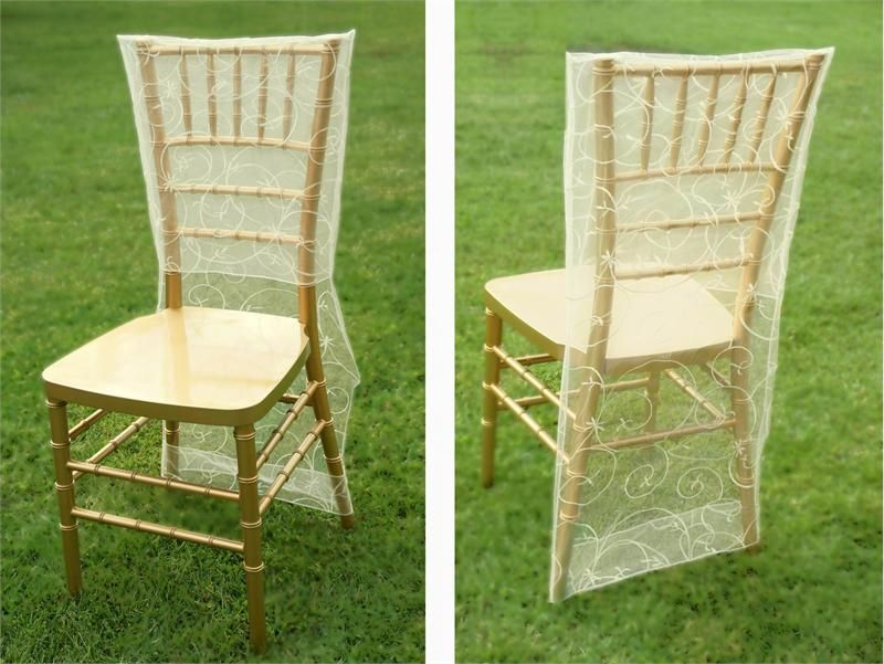 *Possible option for reception chairs. Ivory Embroidered Chair Slipcover $1.80 each eFavorMart