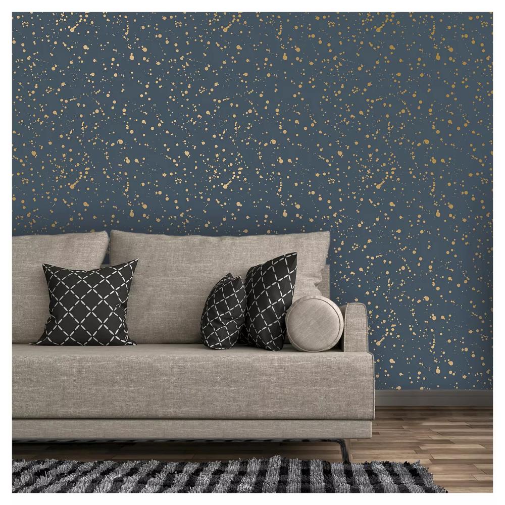 Celestial Peel Stick Wallpaper Navy Gold Opalhouse Peel And Stick Wallpaper Peel N Stick Wallpaper Wallpaper