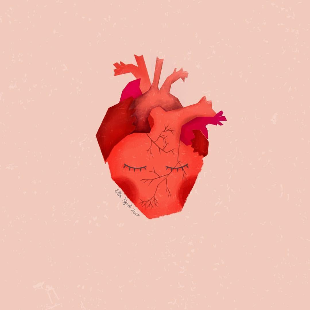 "54 Likes, 6 Comments - Ellie Nejad (@65ping) on Instagram: ""Heart.❤️ Link in bio. #artbyellienejad #BKKlove #illustration #drawing @berlinkreativkollektiv…"""