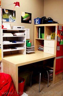 bureau r alis avec module kallax de ikea mon bureau pinterest kallax home office et ikea. Black Bedroom Furniture Sets. Home Design Ideas