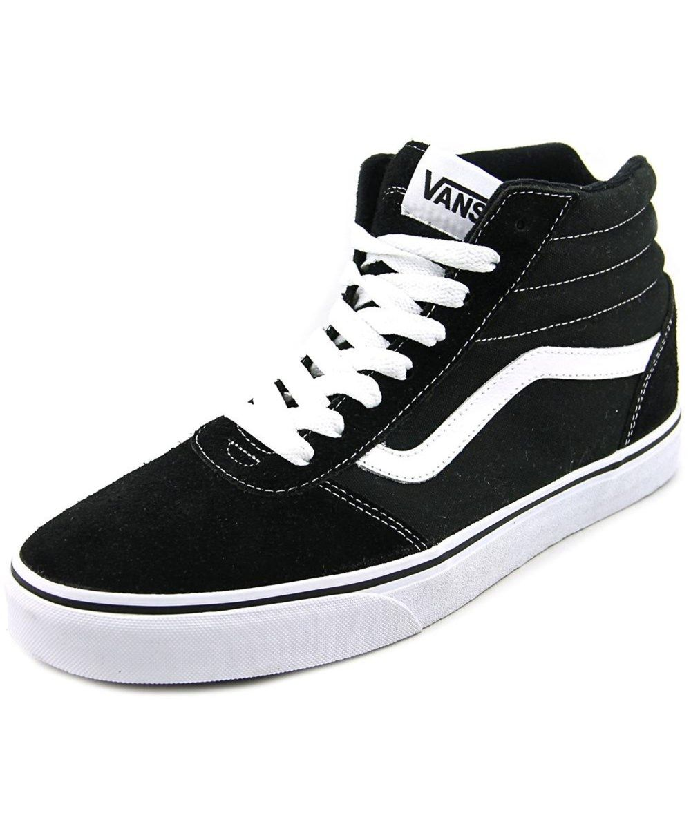 22ef3de44c3 VANS Vans Ward Hi Men Round Toe Canvas Black Skate Shoe .  vans  shoes   sneakers