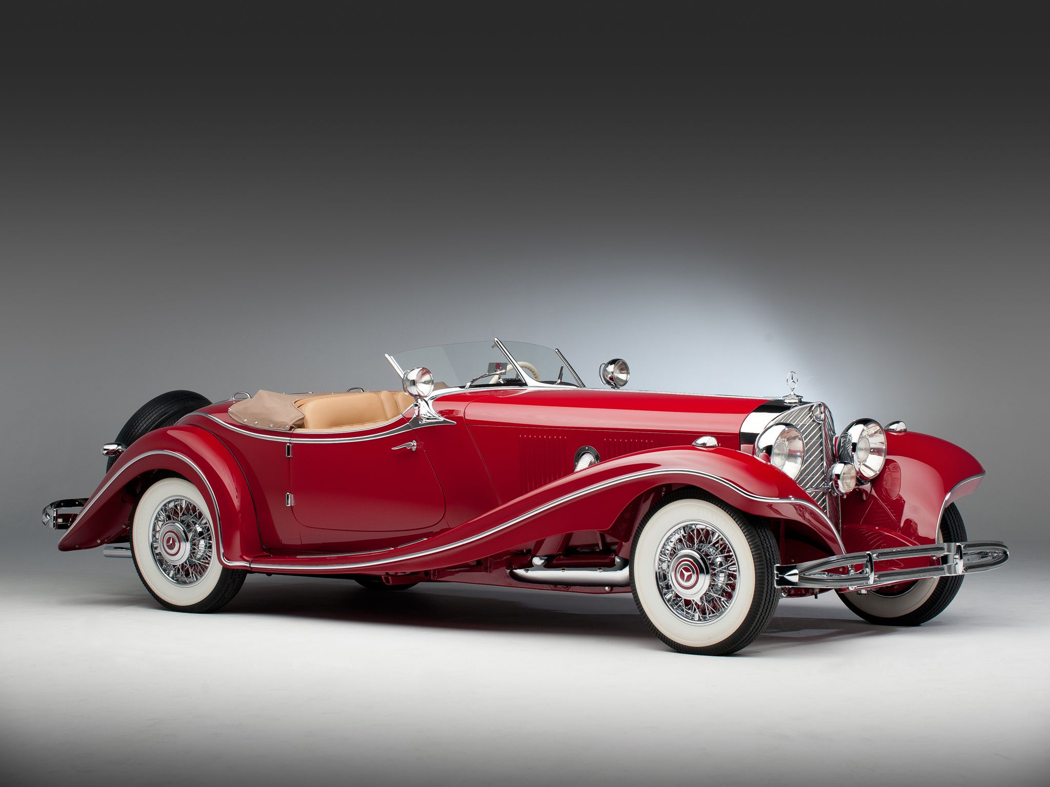 the 1935 mercedes benz 500k roadster with a combined production of 343 vehicles