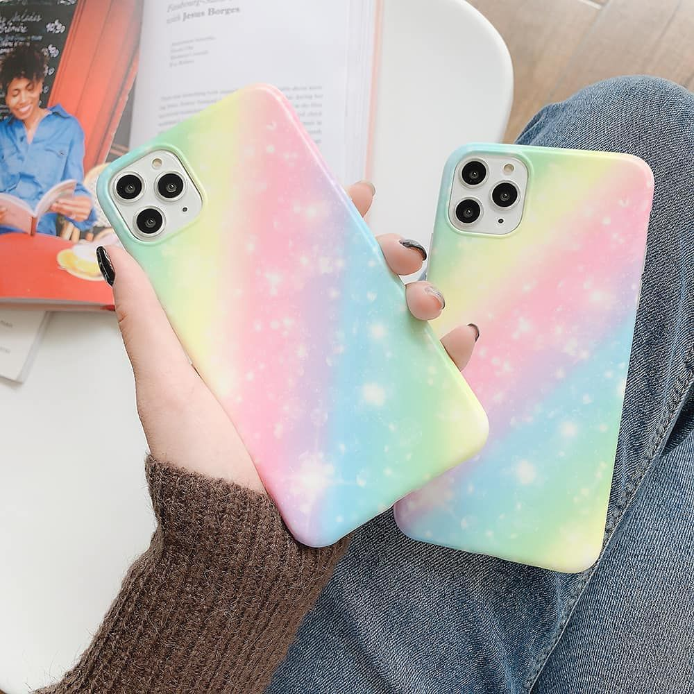 Candy color gradient case for all iphone devices titre for