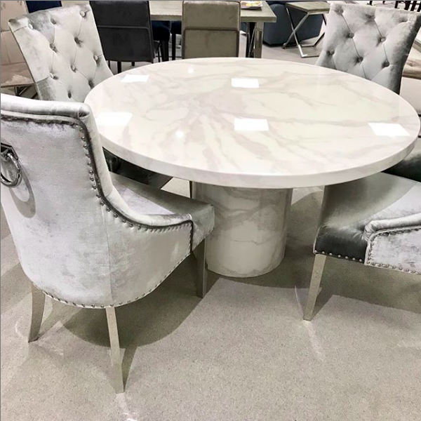 Round Marble Dining Set Luxury Round Dining Table Dining Room Table Marble Marble Dining
