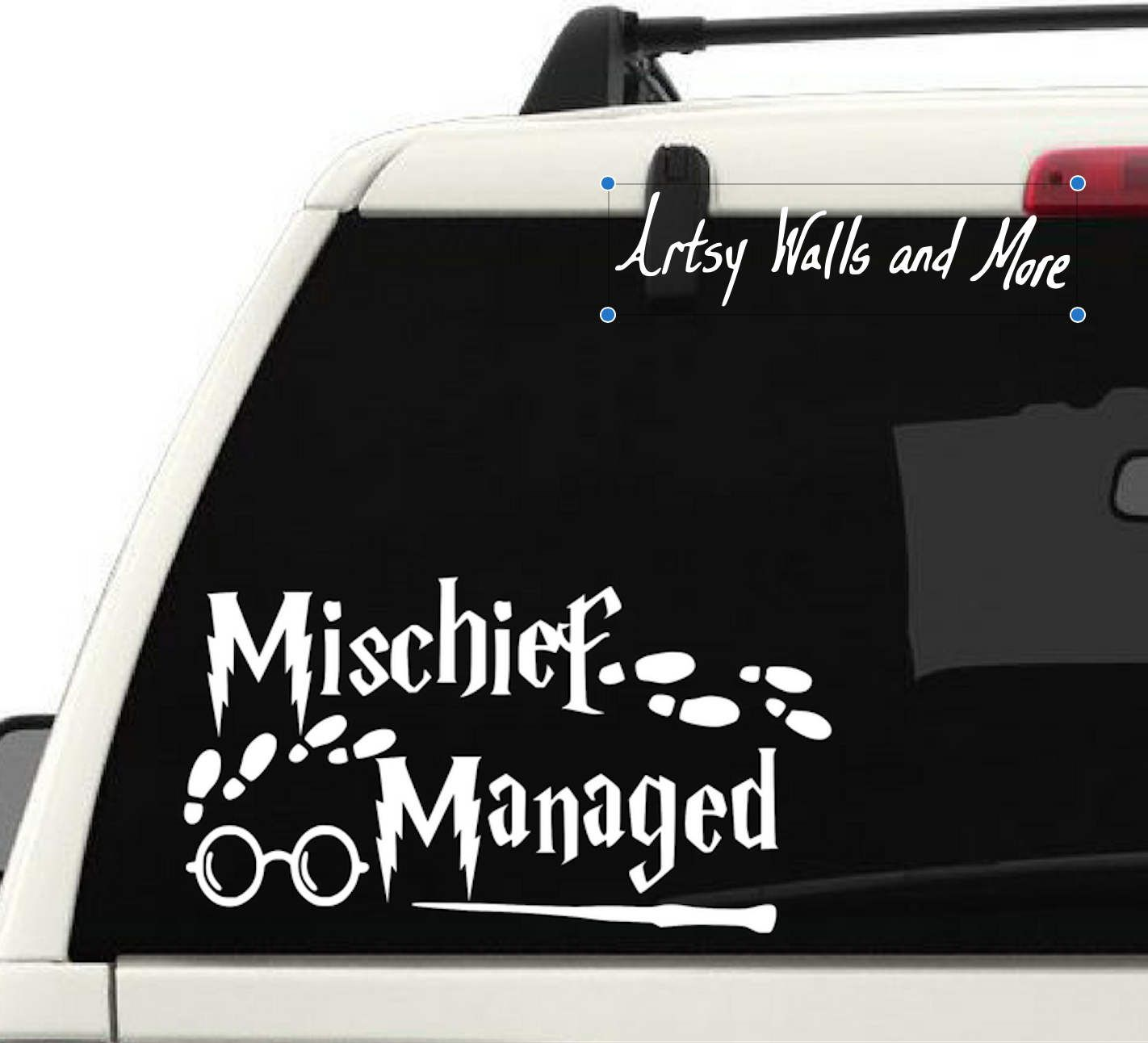 Mischief Managed Harry Potter Car Vinyl Decal Sticker Quote Albus Dumbledore Harry Potter Wall Deca Harry Potter Car Car Decals Vinyl Harry Potter Wall Decals [ 1292 x 1422 Pixel ]