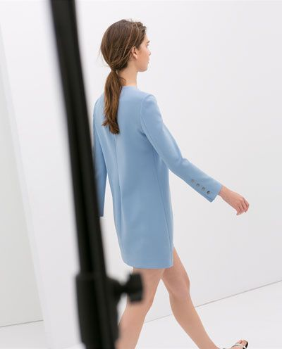 LONG SLEEVE DRESS WITH BUTTONS from Zara