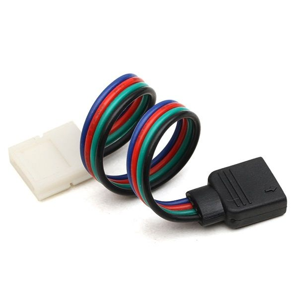 10mm 4pin rgb no soldering female cable connector pcb board for 3528 10mm 4pin rgb no soldering female cable connector pcb board for 3528 5050 strip light mozeypictures Image collections