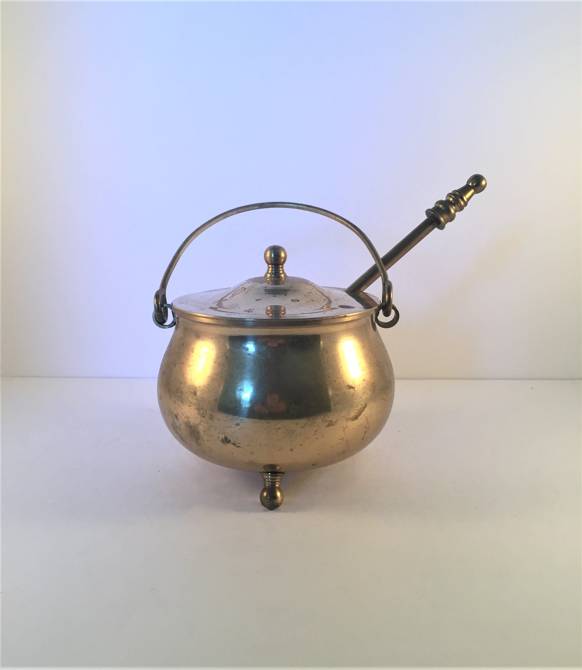 antique fire starter solid brass cauldron fire starter made in japan