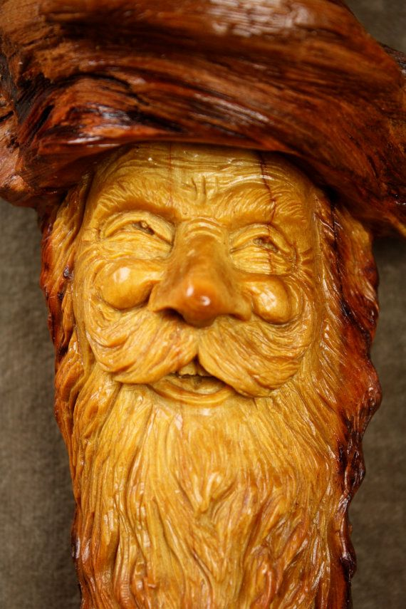 A Unique Wood Carving of a Wood Spirit by TreeWizWoodCarvings