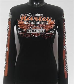 San Diego Harley Davidson Women S Genuine Legend Long Sleeve T Shirt R000258 Harley Davidson Clothing Harley Davidson Gear Harley Davidson Merchandise
