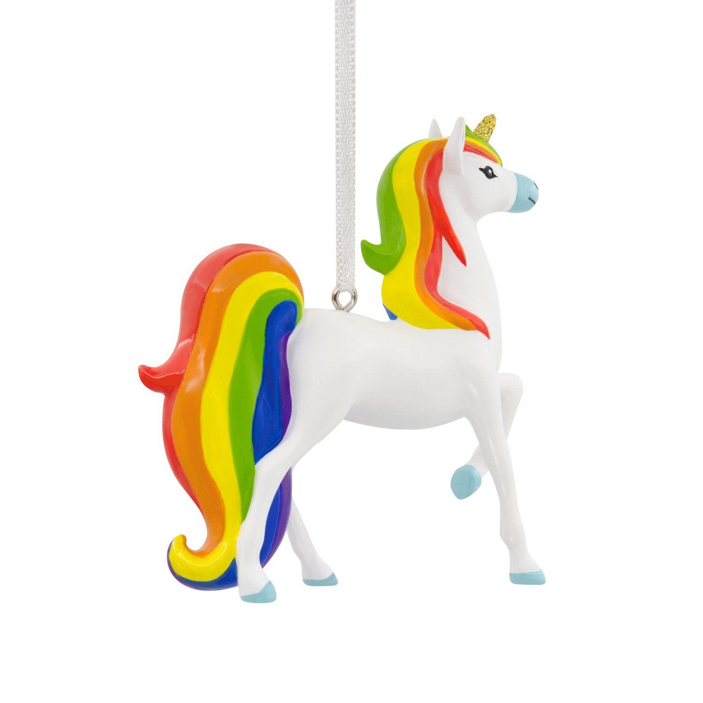 Hallmark Unicorn With Rainbow Mane Christmas Ornament