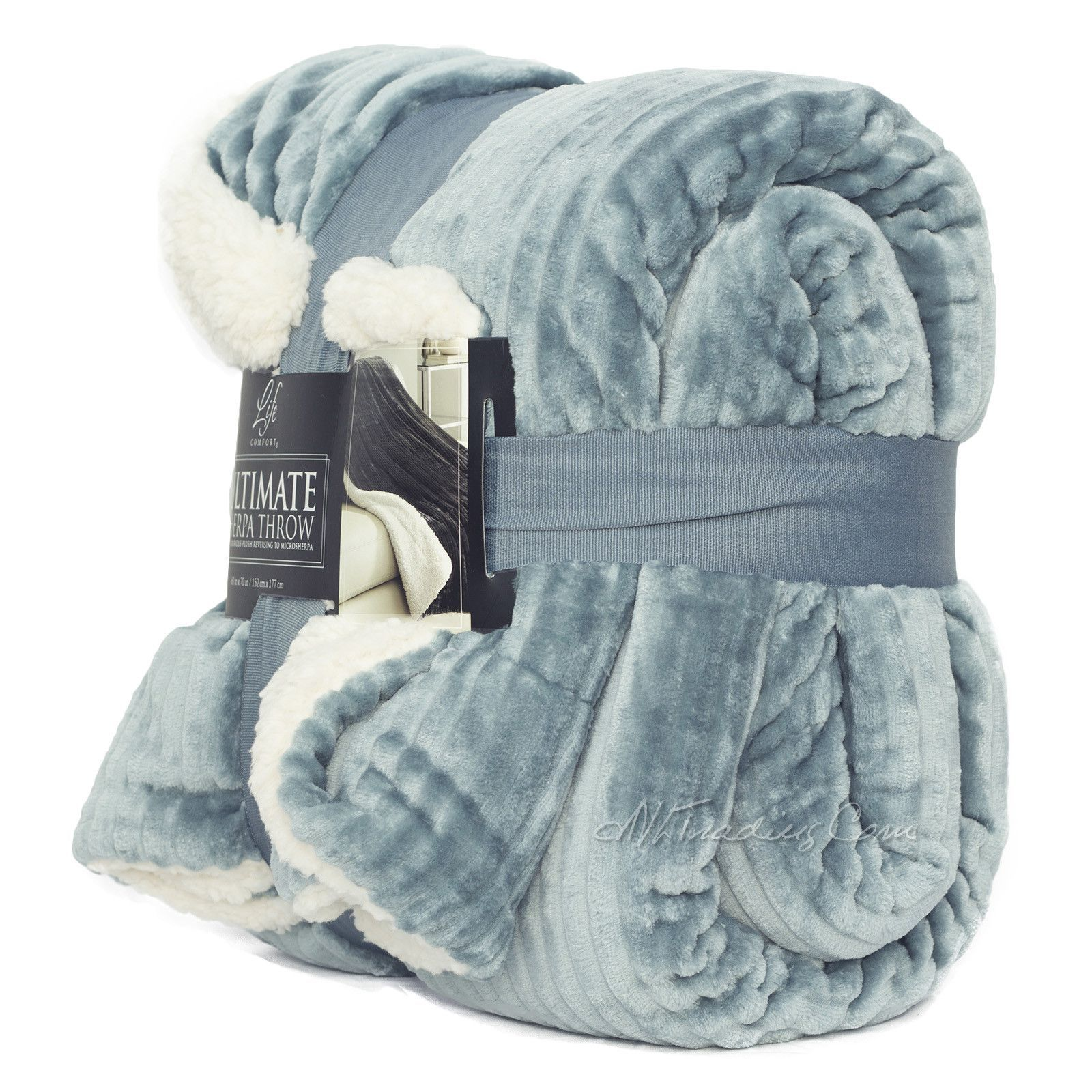 life comfort blanket Life Comfort WARM ULTRA SOFT Ultimate SHERPA THROW BLANKET  life comfort blanket