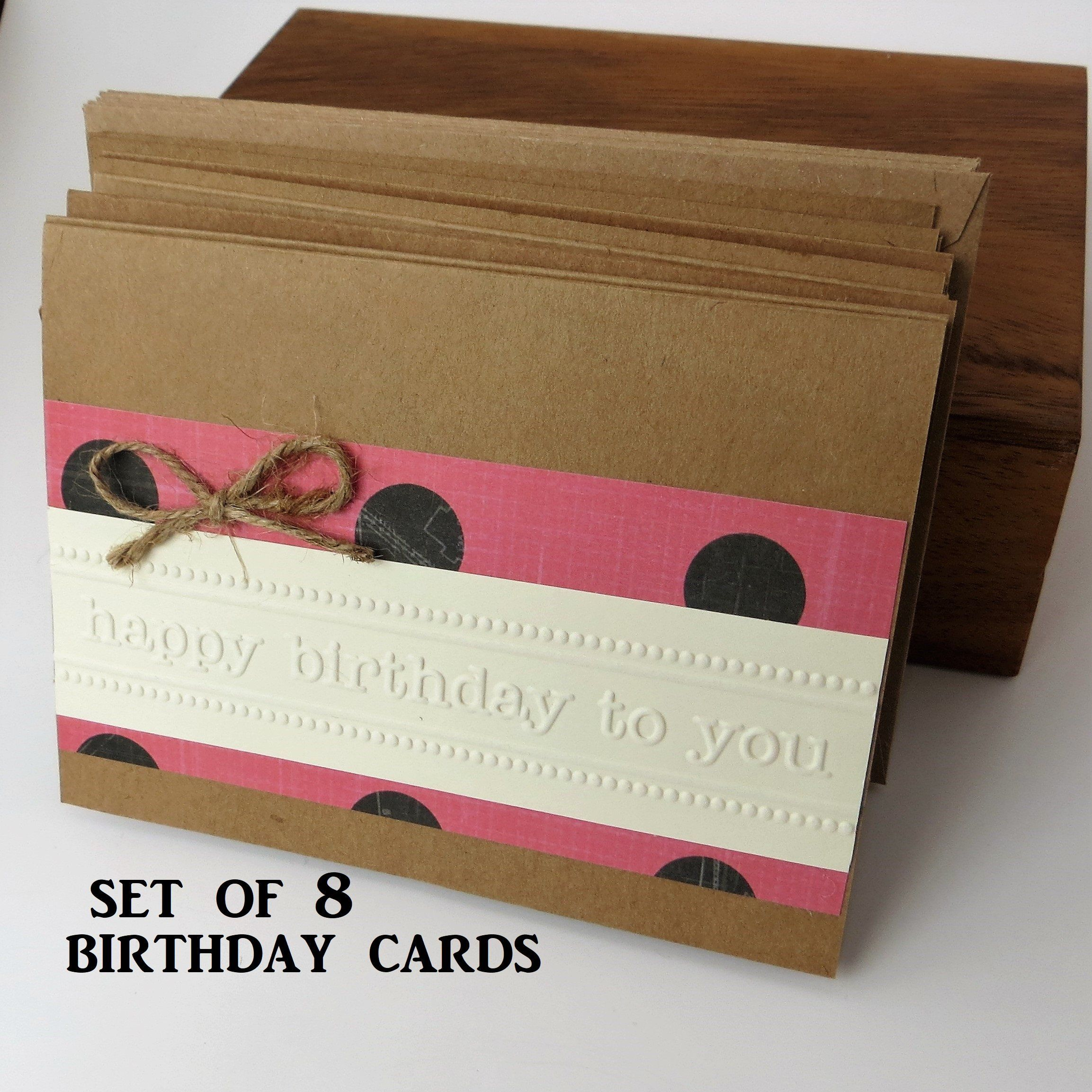 Bulk Set Of Birthday Cards Nothing Says Love Like Handmade These Cards Are Embossed With Happ Birthday Cards Birthday Cards For Friends Birthday Card Design