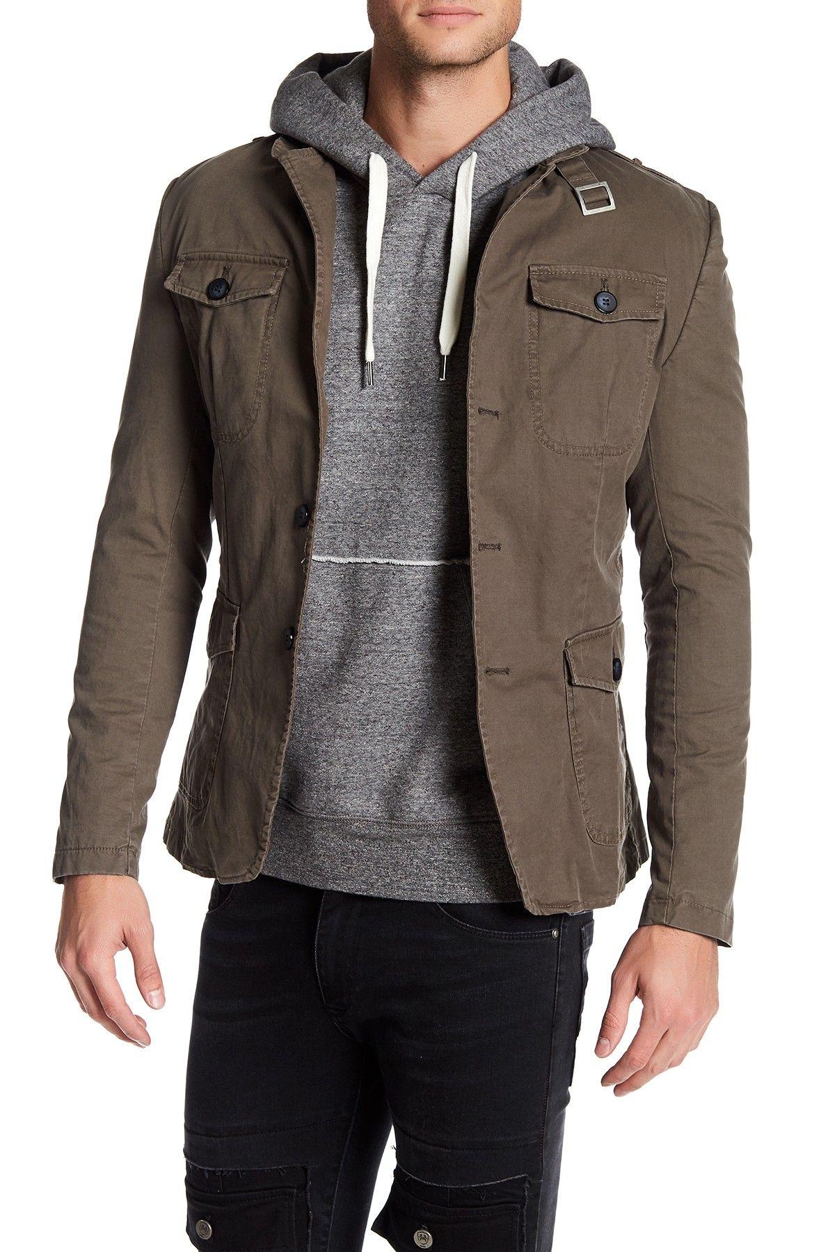 Epaulet Shoulder Multipocket Safari Jacket